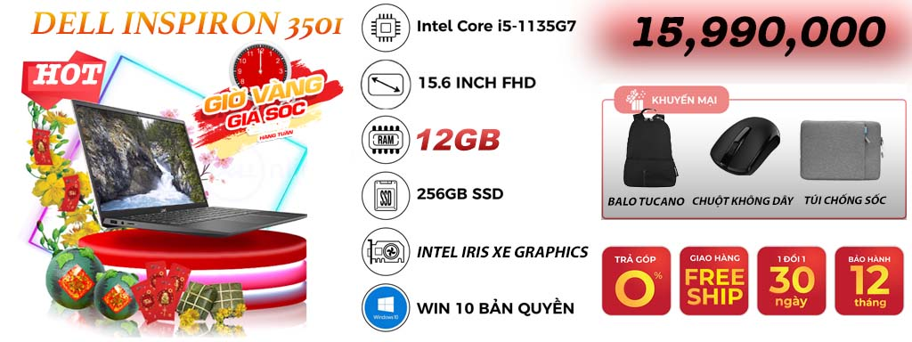 DELL INSPIRON 3501 <br> GIÁ SỐC MUA NGAY